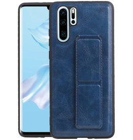 Grip Stand Hardcase Backcover Huawei P30 Pro Blauw
