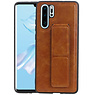 Grip Stand Hardcase Backcover Huawei P30 Pro Bruin