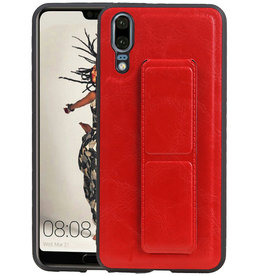 Grip Stand Hardcase Backcover Huawei P20 Rood