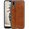 Grip Stand Hardcase Backcover Huawei P20 Bruin