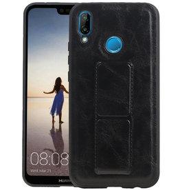 Grip Stand Hardcase Backcover Huawei P20 Lite Zwart