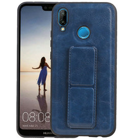 Grip Stand Hardcase Backcover Huawei P20 Lite Blauw