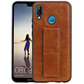 Grip Stand Hardcase Backcover Huawei P20 Lite Bruin