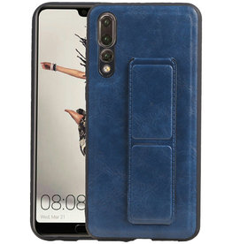 Grip Stand Hardcase Backcover Huawei P20 Pro Blauw