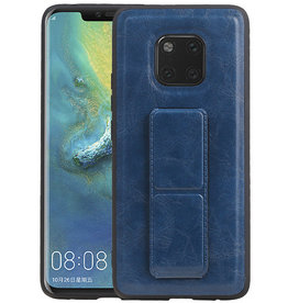 Grip Stand Hardcase Backcover Huawei Mate 20 Pro Blauw