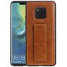 Grip Stand Hardcase Backcover Huawei Mate 20 Pro Bruin