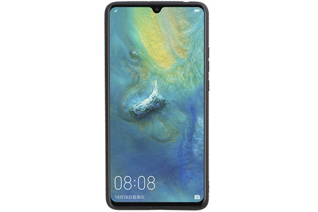 Grip Stand Hardcase Backcover voor Huawei Mate 20 X Blauw