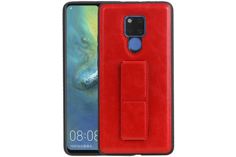 Grip Stand Hardcase Backcover voor Huawei Mate 20 X Rood