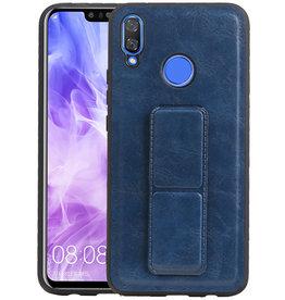 Grip Stand Hardcase Backcover Huawei Nova 3 Blauw