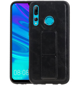 Grip Stand Hardcase Backcover Huawei P Smart Plus Zwart