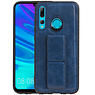 Grip Stand Hardcase Backcover Huawei P Smart Plus Blauw