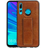 Grip Stand Hardcase Backcover Huawei P Smart Plus Bruin