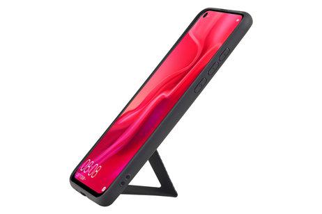Grip Stand Hardcase Backcover voor Huawei Nova 4 Zwart
