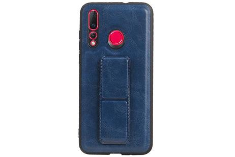 Grip Stand Hardcase Backcover voor Huawei Nova 4 Blauw