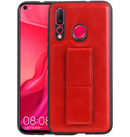 Grip Stand Hardcase Backcover Huawei Nova 4 Rood