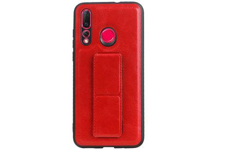 Grip Stand Hardcase Backcover voor Huawei Nova 4 Rood