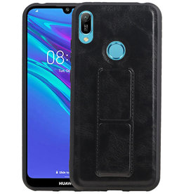 Grip Stand Hardcase Backcover Huawei Y6 2019 Zwart