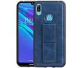 Grip Stand Hardcase Backcover voor Huawei Y6 2019 Blauw