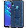 Grip Stand Hardcase Backcover Huawei Y6 2019 Blauw