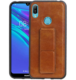 Grip Stand Hardcase Backcover Huawei Y6 2019 Bruin