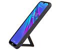 Grip Stand Hardcase Backcover voor Huawei Y6 2019 Bruin