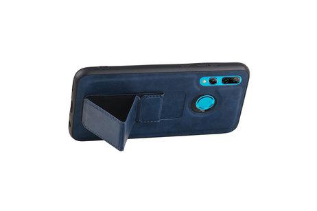 Grip Stand Hardcase Backcover voor Honor 20 Lite Blauw
