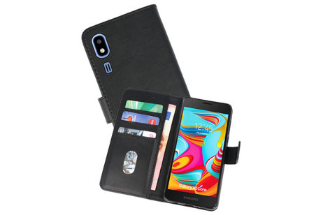 Bookstyle Wallet Cases Hoesje voor Nokia 2.2 Zwart