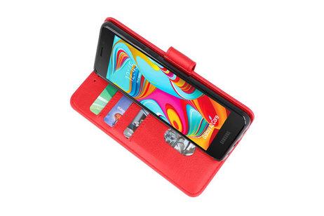Bookstyle Wallet Cases Hoesje voor Nokia 2.2 Rood