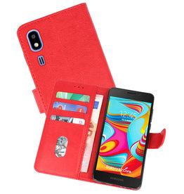 Nokia 2.2 Hoesje Kaarthouder Book Case Telefoonhoesje Rood