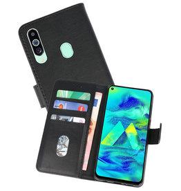 Samsung Galaxy M40 Hoesje Kaarthouder Book Case Telefoonhoesje Zwart