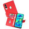 Samsung Galaxy M40 Hoesje Kaarthouder Book Case Telefoonhoesje Rood