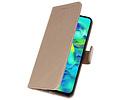 Bookstyle Wallet Cases Hoesje voor Samsung Galaxy M40 Goud