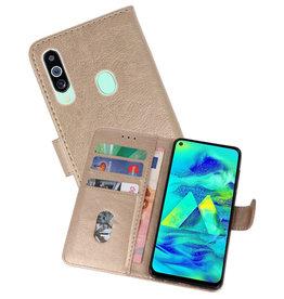 Samsung Galaxy M40 Hoesje Kaarthouder Book Case Telefoonhoesje Goud