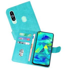 Bookstyle Wallet Cases Hoesje Samsung Galaxy M40 Groen