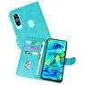 Samsung Galaxy M40 Hoesje Kaarthouder Book Case Telefoonhoesje Groen