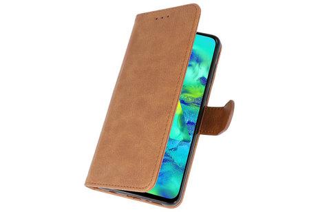 Bookstyle Wallet Cases Hoesje voor Samsung Galaxy M40 Bruin