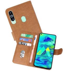 Samsung Galaxy M40 Hoesje Kaarthouder Book Case Telefoonhoesje Bruin