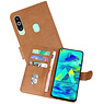Bookstyle Wallet Cases Hoesje Samsung Galaxy M40 Bruin