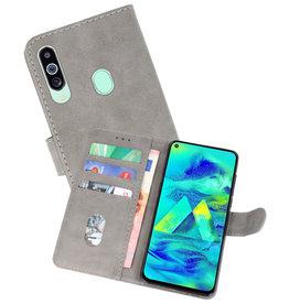 Bookstyle Wallet Cases Hoesje Samsung Galaxy M40 Grijs