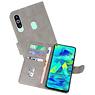 Samsung Galaxy M40 Hoesje Kaarthouder Book Case Telefoonhoesje Grijs