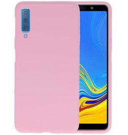 Color TPU Hoesje Samsung Galaxy A7 2018 Roze