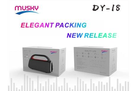 Musky Bluetooth Speaker DY-18 Zwart