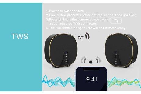 Musky Bluetooth Speaker DY-52 Goud