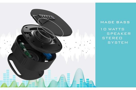 Musky Bluetooth Speaker DY-52 Zilver