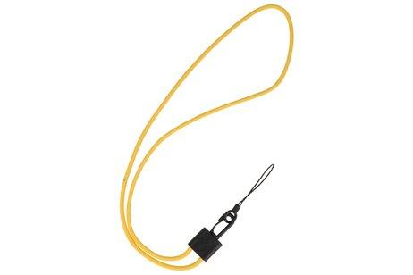 CSC Ronde Touwtjes voor Telefoon Hoesjes of Badge Geel