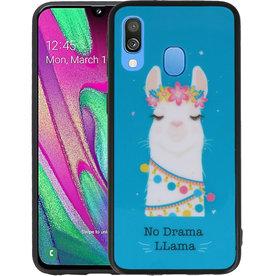 Samsung Galaxy A40 Hoesje No Drama LLama Design