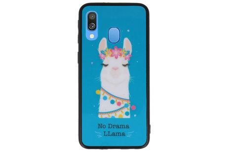 No Drama LLama TPU Hoesje Blauw Voor Samsung Galaxy A40
