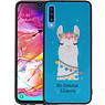 Samsung Galaxy A70 Hoesje No Drama LLama Design