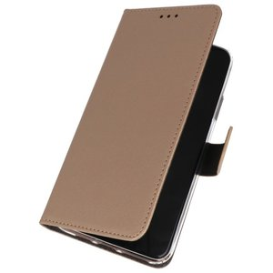 Wallet Cases Hoesje voor Nokia 6.2 Goud