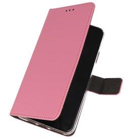 Wallet Cases Hoesje Nokia 7.2 Roze